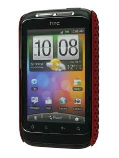 HTC Wildfire S Slim Mesh Case - Burgundy Red
