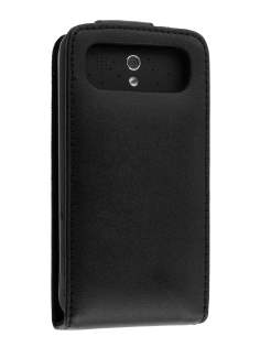 Genuine Leather Flip Case for HTC Legend - Black Leather Flip Case