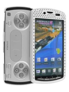 HoneyComb Case for Sony Ericsson Xperia Play 4G - White Hard Case