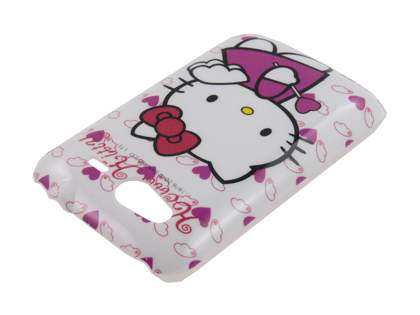 HTC Wildfire S Hello Kitty Back Case - White/Pink