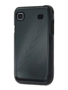 Samsung I9000 Galaxy S coloured timber-style pattern Case - Black