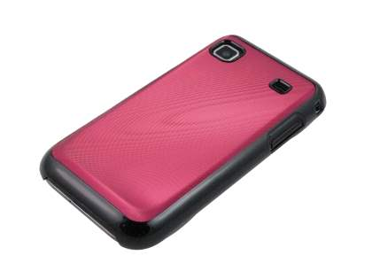 Timber-Style Coloured Case for Samsung I9000 Galaxy S - Red/Black