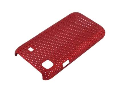 Slim Mesh Case for  Samsung I9000 Galaxy S - Burgundy Red