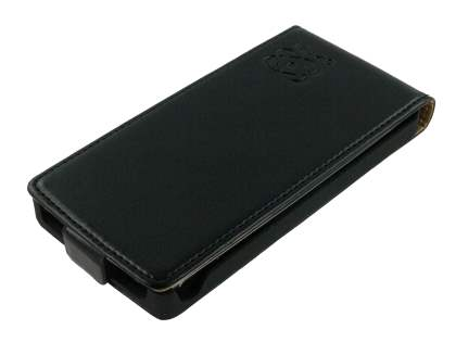 Sony Ericsson XPERIA Arc/Arc S Slim Synthetic Leather Flip Case - Classic Black