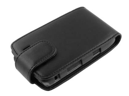Synthetic Leather Flip Case for BlackBerry Torch 9810/9800 - Black