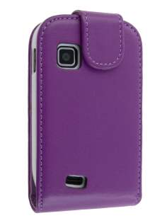Synthetic Leather Flip Case for Samsung Galaxy Fit S5670 - Purple Leather Flip Case