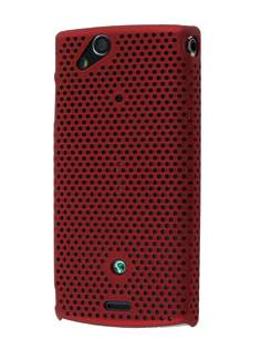 Mesh Case for Sony Ericsson XPERIA Arc/Arc S - Burgundy Red