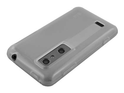 LG Optimus 3D P920 TPU Gel Case - Frosted Clear
