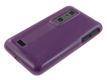 TPU Gel Case for LG Optimus 3D P920 - Grape Purple