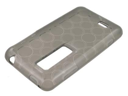 LG Optimus 3D P920 TPU Gel Case - Frosted Grey