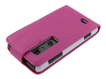 Synthetic Leather Flip Case for LG Optimus 3D P920 - Pink
