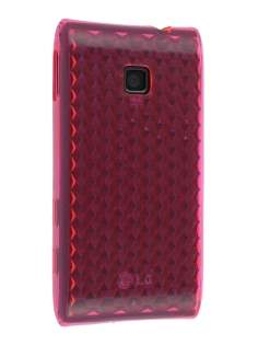 TPU Gel Case for LG GT540 Optimus - Diamond Pink