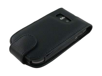 Nokia E6 Synthetic Leather Flip Case - Black