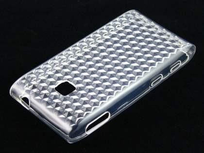 LG GT540 Optimus TPU Gel Case - Diamond Clear