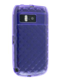 TPU Gel Case for Nokia E6 - Diamond Purple Soft Cover