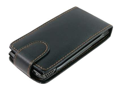 Synthetic Leather Flip Case for Nokia X7 - Black