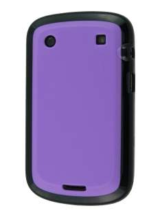 BlackBerry Bold 9900 Dual-Design Case - Black/Purple Impact Case