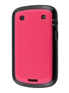 BlackBerry Bold 9900 Dual-Design Case - Black/Pink Impact Case