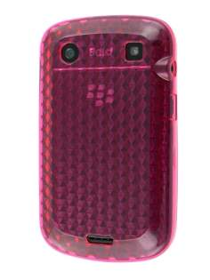 TPU Gel Case for BlackBerry Bold 9900 - Diamond Pink Soft Cover