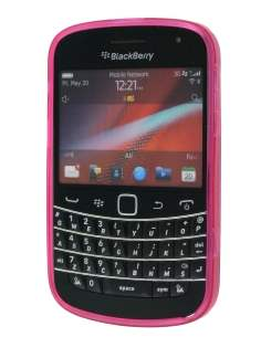 TPU Gel Case for BlackBerry Bold 9900 - Diamond Pink