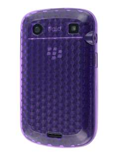 BlackBerry Bold 9900 TPU Gel Case - Diamond Purple