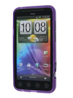HTC EVO 3D TPU Gel Case - Purple