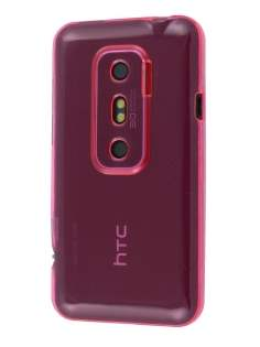 HTC EVO 3D TPU Gel Case - Pink Soft Cover