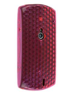 TPU Gel Case for Sony Ericsson Xperia neo - Diamond Pink Soft Cover
