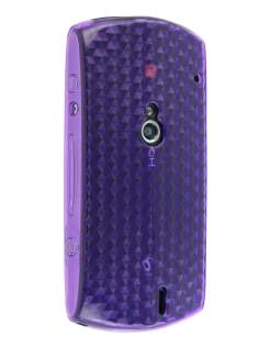 TPU Gel Case for Sony Ericsson Xperia neo - Diamond Purple Soft Cover