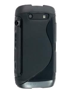 Wave Case for BlackBerry Torch 9860 - Black Soft Cover