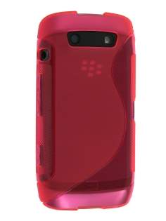 Wave Case for BlackBerry Torch 9860 - Frosted Pink Soft Cover