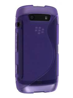 Wave Case for BlackBerry Torch 9860 - Frosted Purple Soft Cover