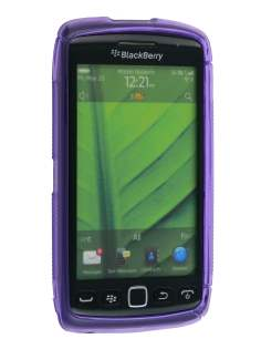 Wave Case for BlackBerry Torch 9860 - Frosted Purple