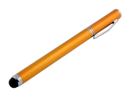 Universal Finger-Touch Stylus & Ball-Point Pen - Goldenrod Stylus