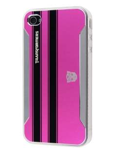 Transformers Case for iPhone 4 only - Hot Pink Hard Case