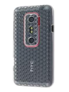 TPU Gel Case for HTC EVO 3D - Diamond Clear Soft Cover