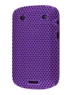 Slim Mesh Case for BlackBerry Bold 9900 - Purple Hard Case