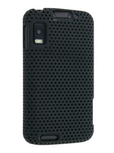 Slim Mesh Case for Motorola ATRIX 4G MB860 - Black Hard Case