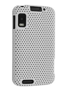 Slim Mesh Case for Motorola ATRIX 4G MB860 - White Hard Case