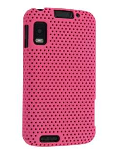 Slim Mesh Case for Motorola ATRIX 4G MB860 - Hot Pink Hard Case