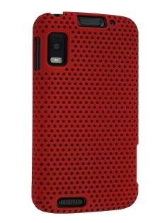 Slim Mesh Case for Motorola ATRIX 4G MB860 - Maroon Red Hard Case