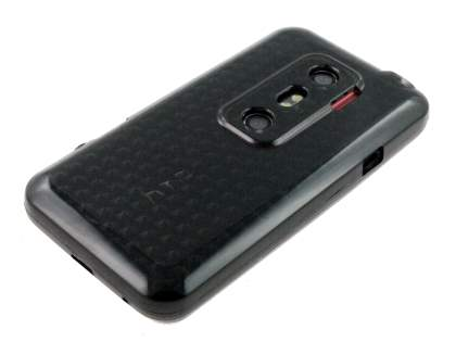TPU Gel Case for HTC EVO 3D - Diamond Grey