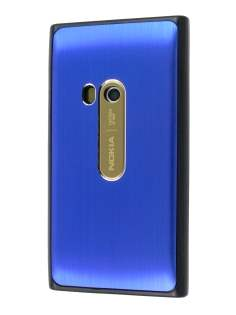 Brushed Aluminium Case for Nokia N9 - Ocean Blue Hard Case