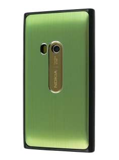 Brushed Aluminium Case for Nokia N9 - Lime Green Hard Case