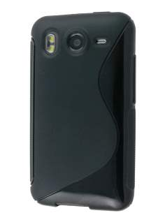 HTC Desire HD Wave Case - Frosted Black