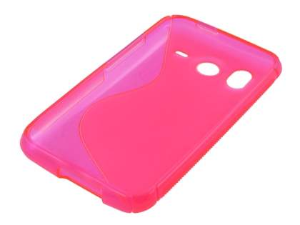 HTC Desire HD Wave Case - Frosted Pink