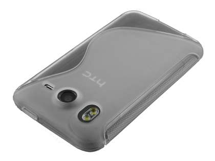 HTC Desire HD Wave Case - Frosted Clear