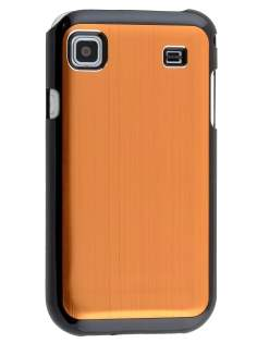 Samsung Galaxy S Brushed Aluminium Case plus Screen Protector - Bronze