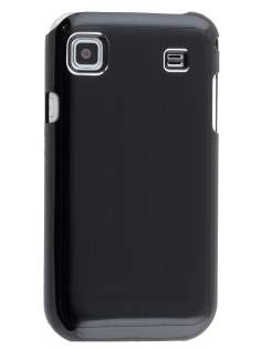 Samsung Galaxy S Brushed Aluminium Case plus Screen Protector - Night Black