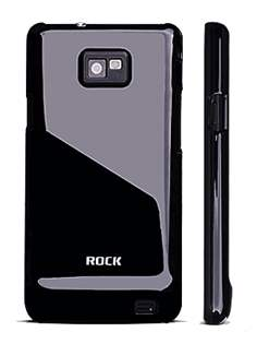 ROCK Nakedshell Colour Case for Samsung I9100 Galaxy S2 - Glossy Black